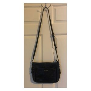 Cole Haan black leather crossbody